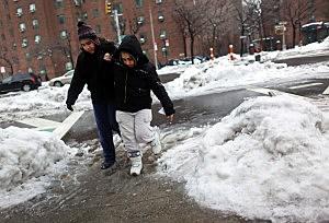 Freezing Rain Storm Creates Icy Commute