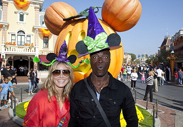 Heidi Klum And Seal Celebrate Halloween Time At Disneyland