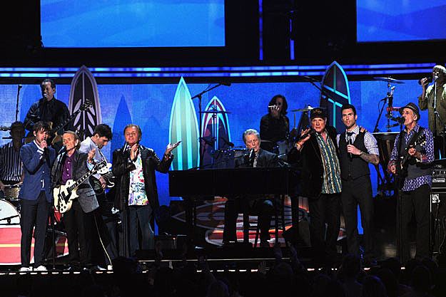beach boys, maroon 5, foster the people grammys performance