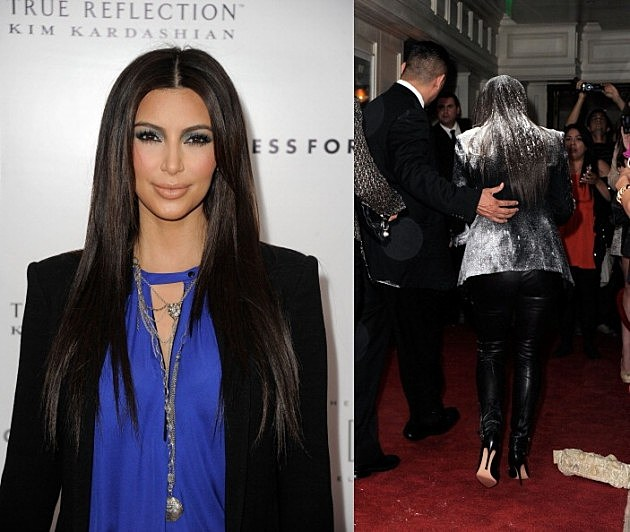 "Kim Kardashian ""True Reflection"" Fragrance Launch & Flower Bombing"