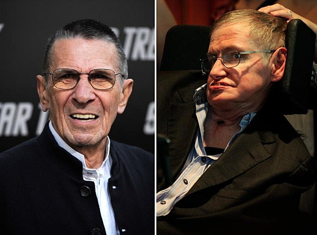 Leonard Nimoy and Stephen Hawking