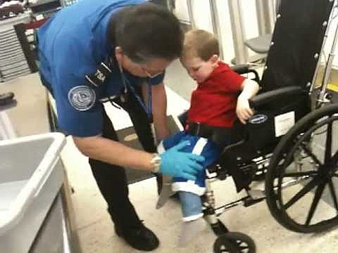 Toddler In Wheelchair and Body Cast Searched by TSA