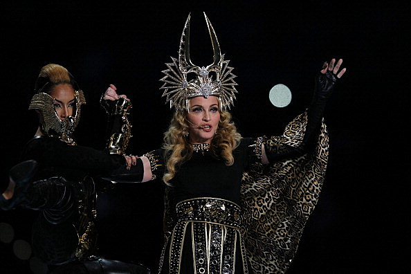 Madonna Performs At The Superbowl