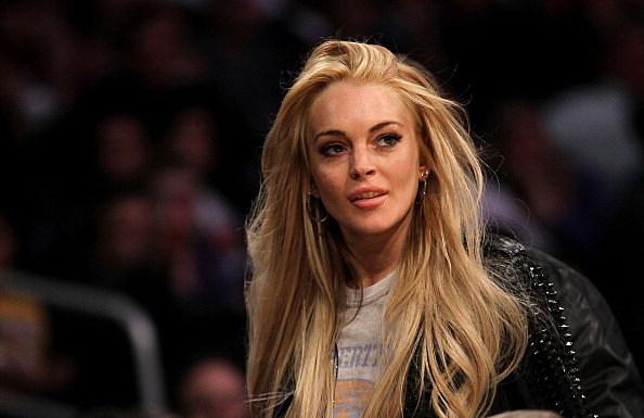 Lindsay Lohan in car crash