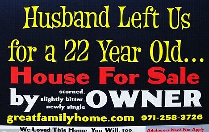 Woman Uses Husband's Affair to Sell House