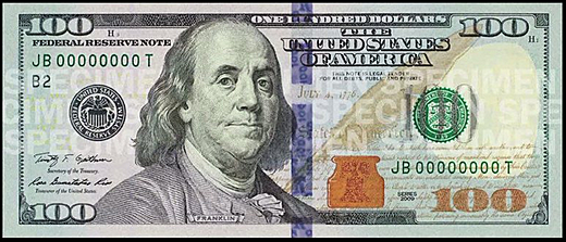 The sexy new $100