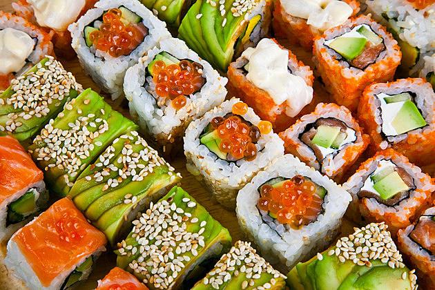 Closeup japanese sushi