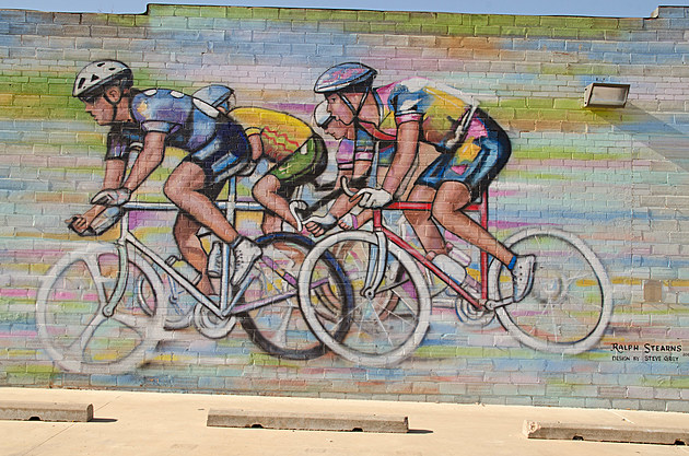 Ralph Stearns Hotter'N Hell Cyclists Murals Wichita Falls