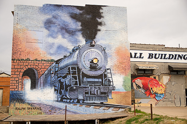 Ralph Stearns Train Mural  Wichita Falls