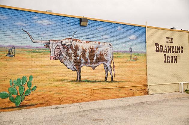 Ralph Stearns Longhorn Mural Branding Iron Wichita Falls