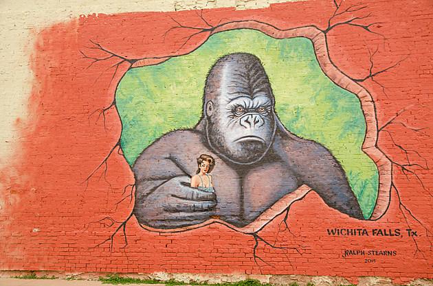 Ralph Stearns King Kong gorilla Mural Wichita Falls