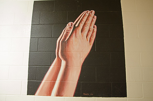 Ralph Stearns Hands in Prayer Mural Faith Mission Wichita Falls