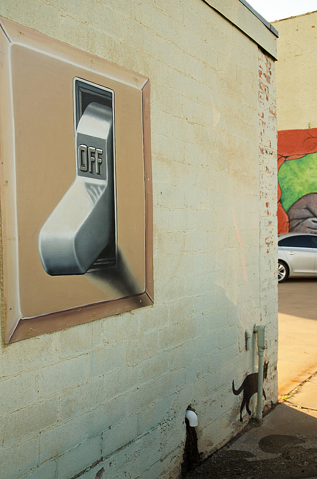 Light Switch Mural in Wichita Falls