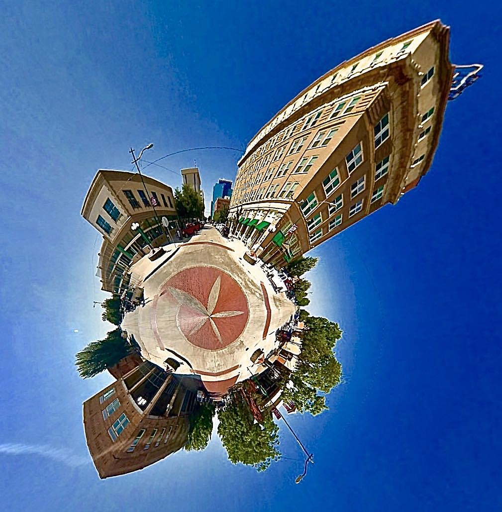 Downtown Wichita Falls-8th-Ohio - Tiny Planet