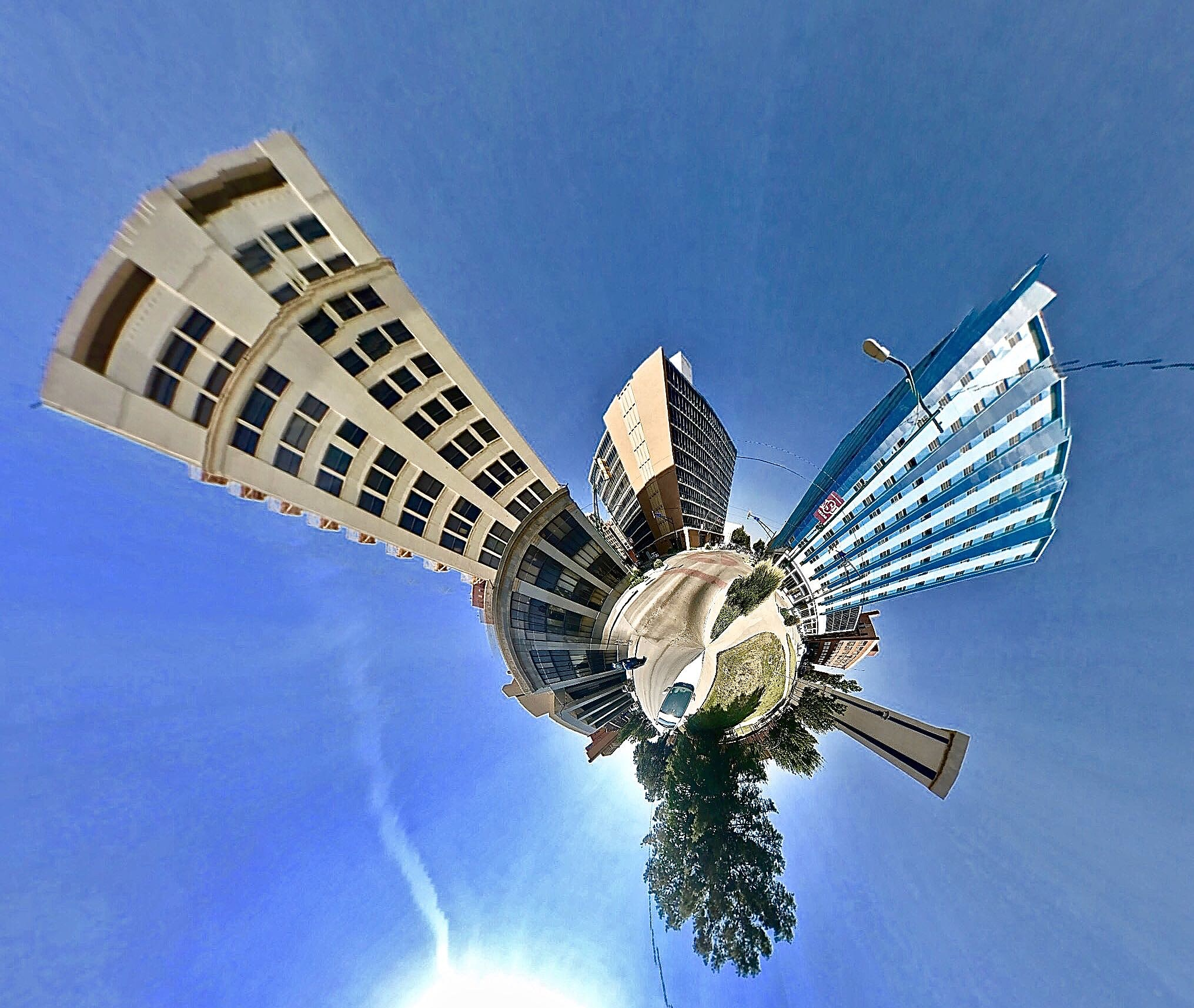 Downtown Wichita Falls - Tiny Planet