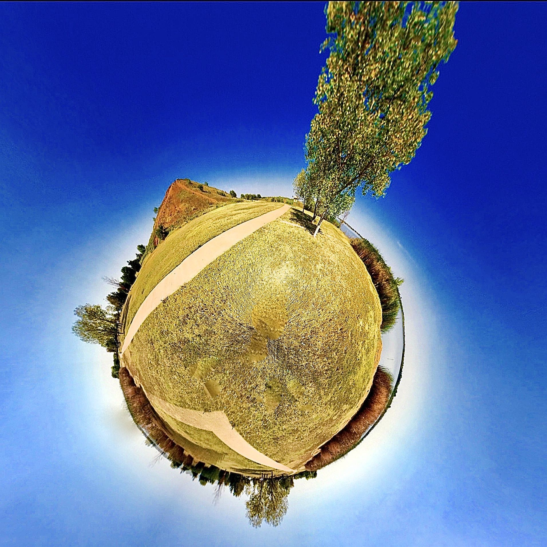 Lake Wichita Park - Tiny Planet