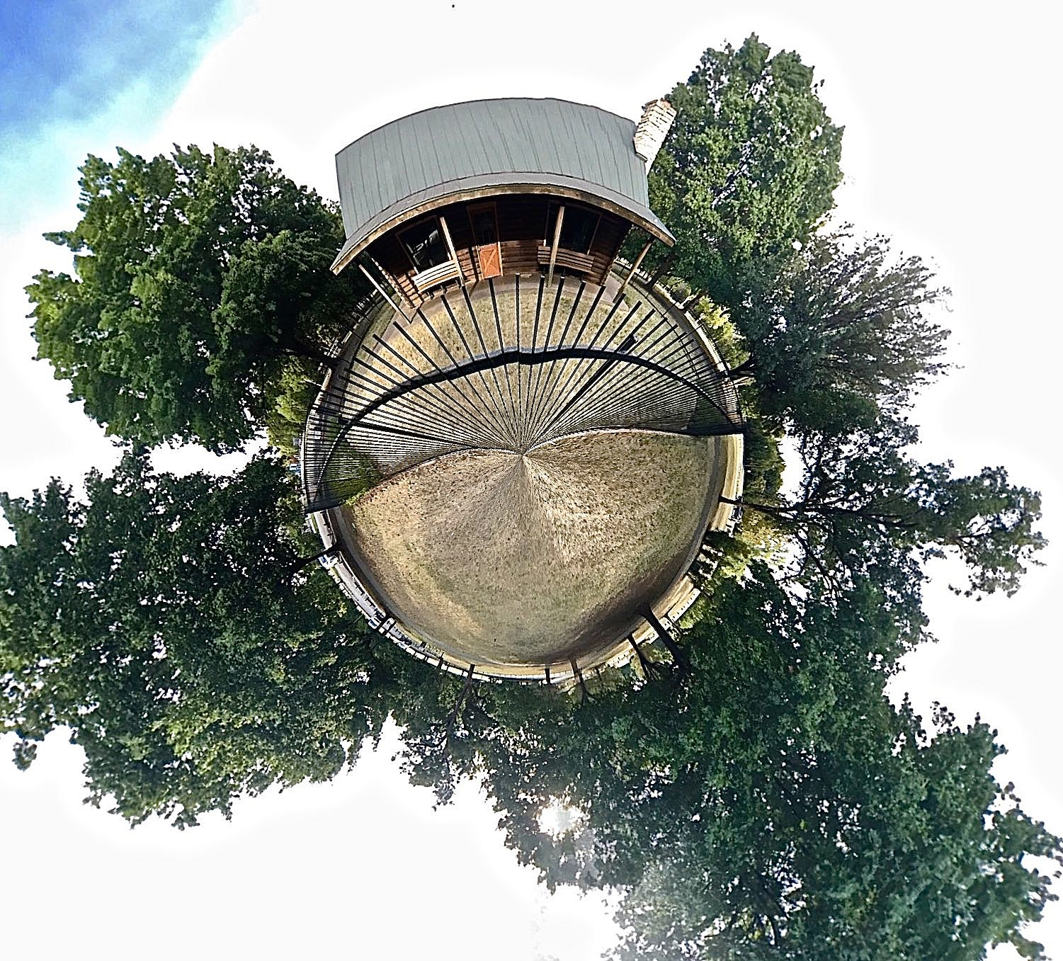 Lucy Park Log Cabin - Tiny Planet