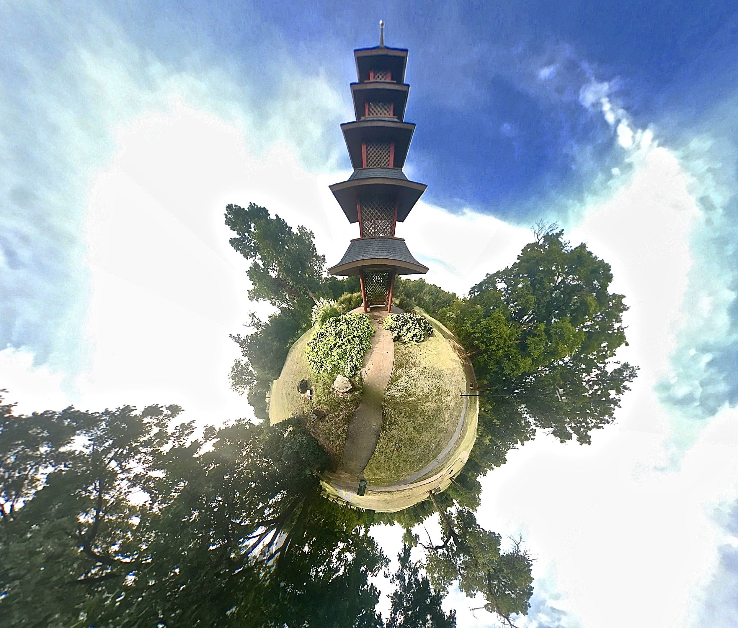 Lucy Park Pagoda - Tiny Planet
