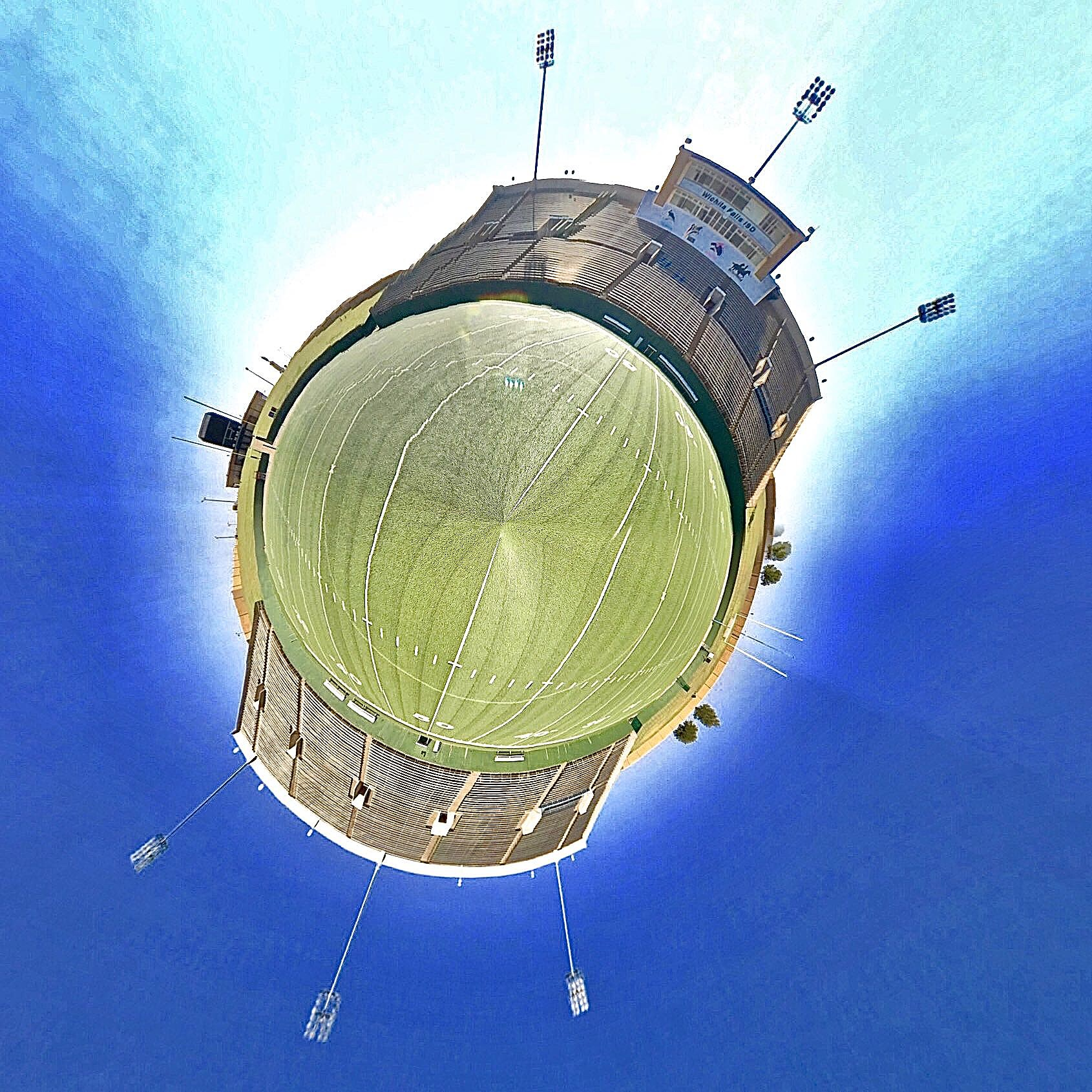 Memorial Stadium Field - Tiny Planet
