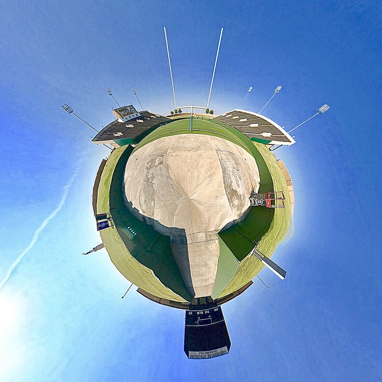 Memorial Stadium Inside - Tiny Planet