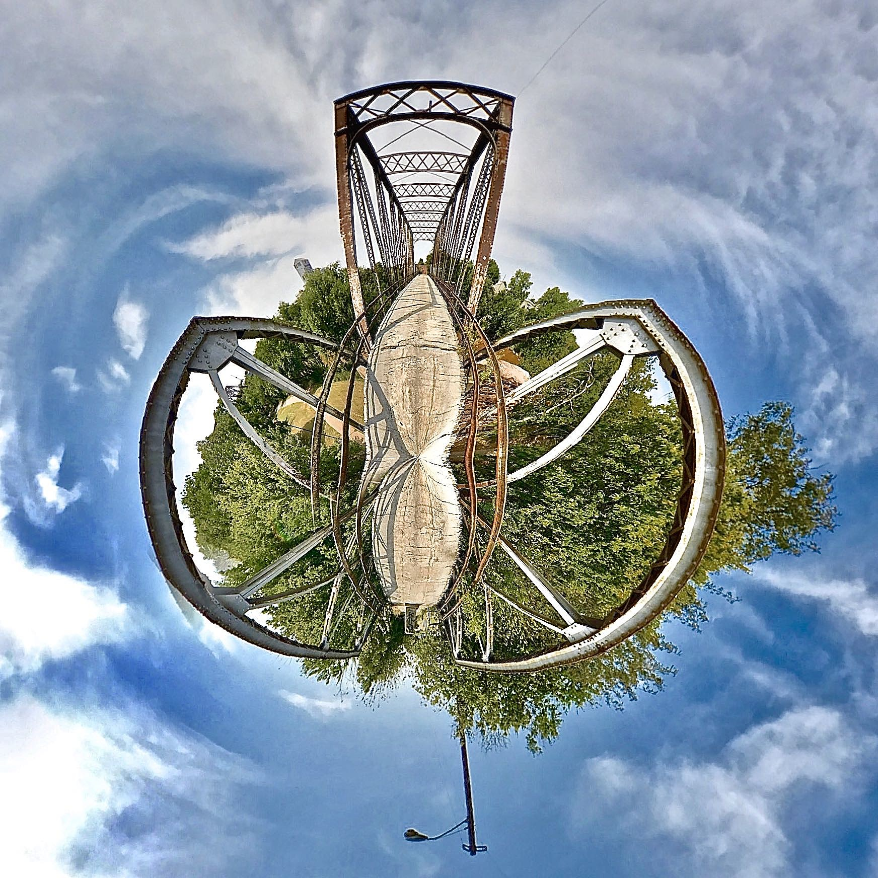Ohio Street Bridge - Tiny Planet