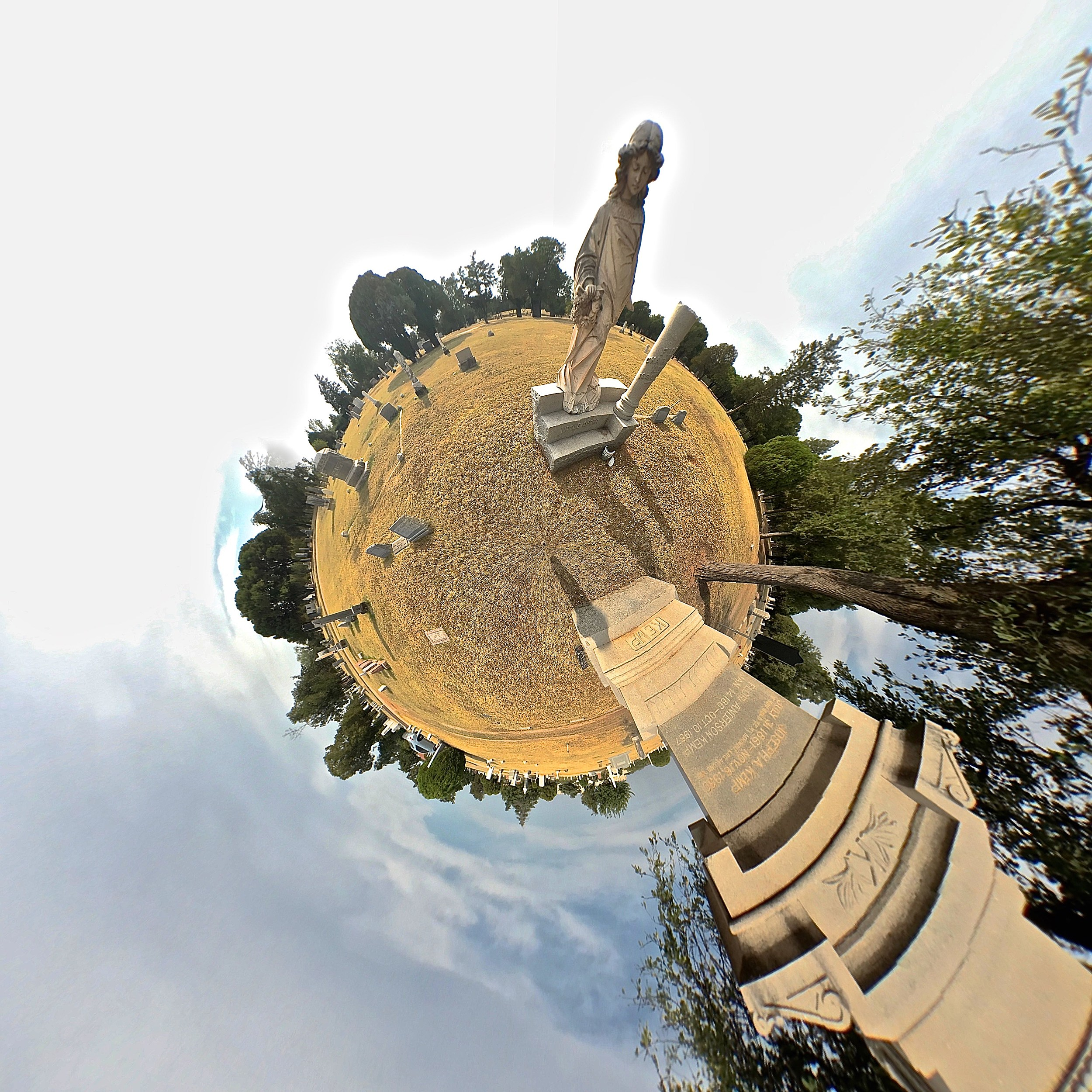Riverside Cemetery - Tiny Planet