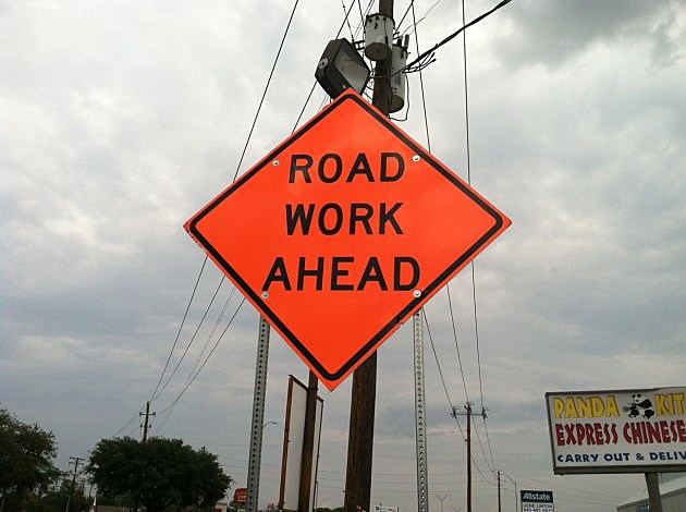 Road Work Sign on Kemp - ©Townsquare Media