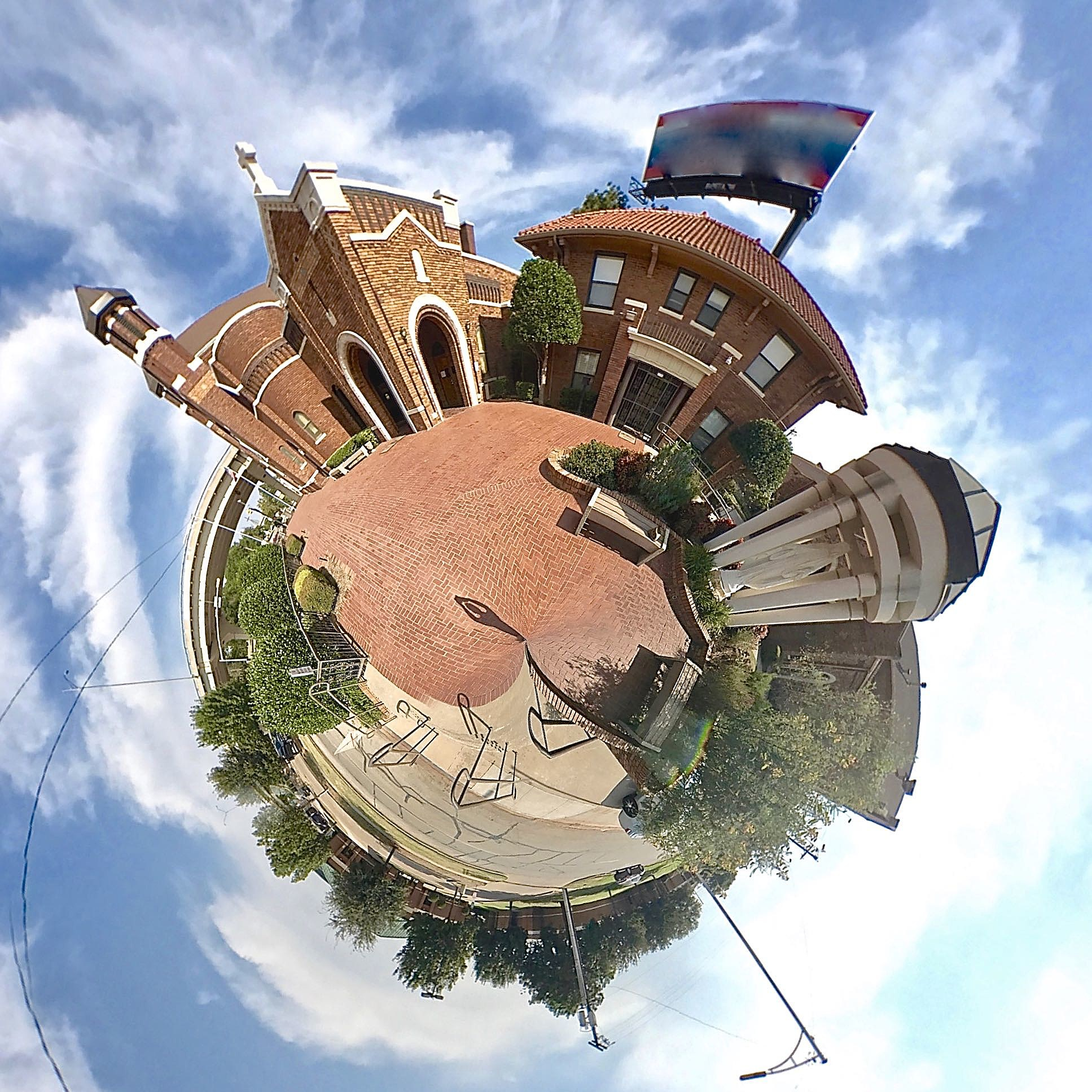 Sacred Heart Catholic Church - Tiny Planet