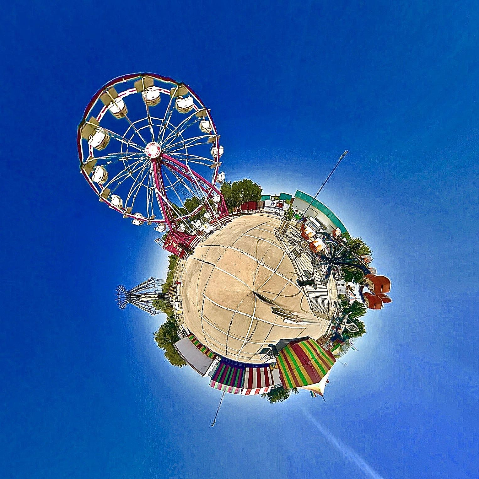 Texas-Oklahoma Fair - Tiny Planet