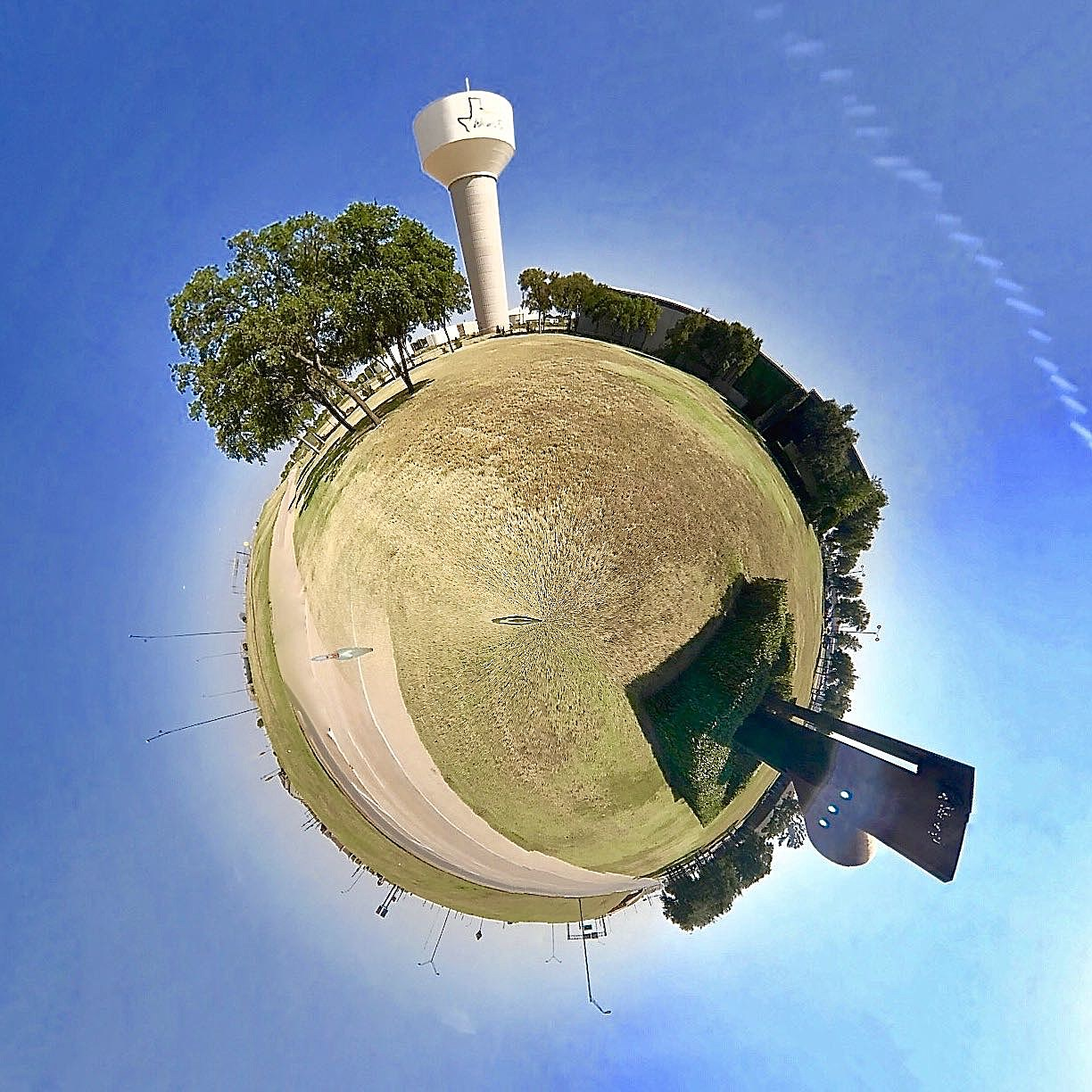 Wichita Falls Water Tower - Tiny Planet